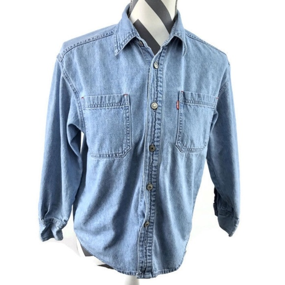 e723ed9a002 Levi s Jackets   Blazers - Levis Red Tab Light Blue Denim Shirt Cotton